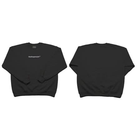 Wethepeople Embroidery Sweater Black Large